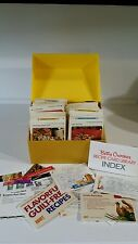 Vintage 1971 Betty Crocker Recipe Card Library Box 2 unopened Yellow /Gold extra