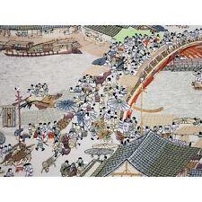 Altchinesische Stadt, chinesisches Bild, Stickbild, Stoffbild, Qingming Rolle