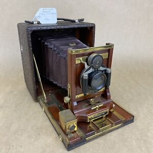 Century Grand Field Red Bellow 4x5 1901 Antique Wooden Camera