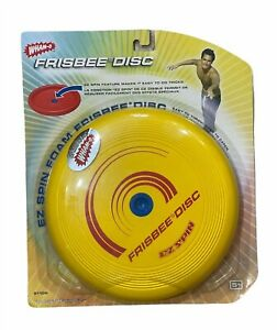 WHAM-O Foam Frisbee Disc EZ Spin 2007 Yellow New in Sealed Package 51106