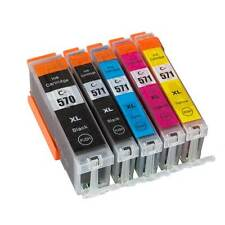 PGI570 CLI571 5 Ink Cartridges for Canon Pixma Set MG5750 MG5751 MG5752 MG5753