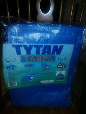 New listing Tarp 20x20 Mildew Proof Waterproof Rope In Hem Heat Sealed Seams Poly 6 Mil Blue