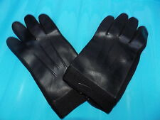 Mens vintage black faux leather gloves - Mens black driving gloves 60s 70s