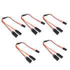 5x 150mm Y-Harness Twisted Extension Cable for  Futaba JR Spektrum RC Servo NEW
