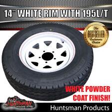 14 x 6 195 LT Sunraysia HT Wheel Rim & Tyre White Caravan Trailer Boat 195R14