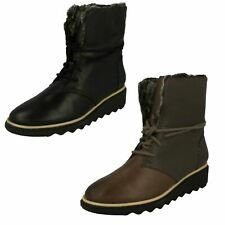 Ladies Clarks Winter Boots Sharon Pearl