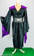Spider Girl Costume 2 Pc Child Black & Purple Bell Sleeved Robe & Belt Large