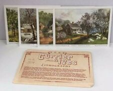 Currier Ives Lithographs American Homestead Set of 4 Seasons 5x7 Reproductions