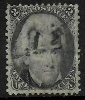 Sc #73 Blackjack Lighter Cancel 2 Cent 1861 Civl War US 84B56
