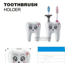 Funny Shape 4 Hole Cute Cartoon Tooth Bracket Container For Bathroom Gadget T