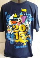 2015 Disneyland Resort-Mickey Mouse-Mens T-Shirt, Adult Large-100% Cotton