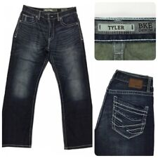 BKE Denim Mens TYLER Dark Straight Leg Distressed Jeans 30S