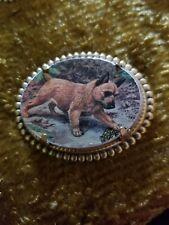 Norwich Terrier Dog vintage like brass pin brooch jewelry