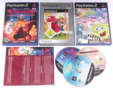 3 Spitzen KINDER Spiele für Playstation 2 z.B. JAK DAXTER; SPONGEBOB; UNGLAUBLIC