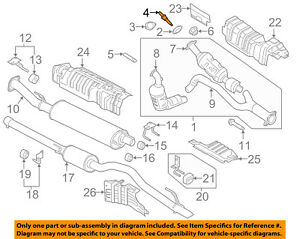 FORD OEM Exhaust System-Catalytic Cnvrtr Stud W716667S900