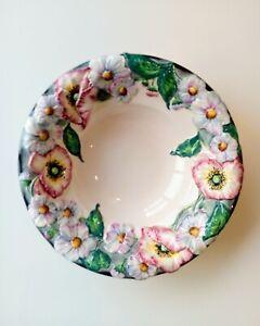 CARLTON WARE Vintage Poppy Bowl Flower Art Deco 1930s 1940s Antique Floral EXC
