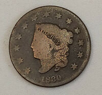 1830 US Coronet LIBERTY Head Large Penny One Cent Coin Circulated US Currency