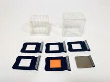 :Kern Paillard Bolex H16 5pc Filter Holder film gel Set + Gelatin Cutter Vtg