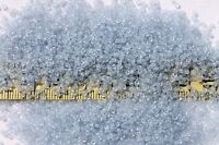 Vintage French 13/0  Glass Seed Beads Trans Light Sapphire  /1/2oz
