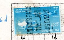 India 1958 Silver Jubilee of Indian Air Force  used; *bl