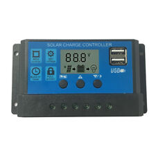 30A PWM LCD Solar Charge Controller 12V/24V Battery Regulator With USB US Stock