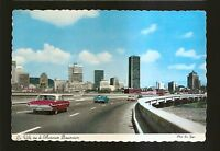 Vtg 1970's Postcard THE CITY FROM BONAVENTURE AUTOROUTE, Montreal, Quebec CANADA