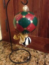 Mackenzie Childs Gold Stripe Harlequin Christmas Tree Ornament Neiman Marcus