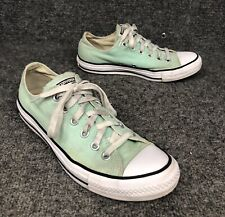 Converse All Star Mint Green Canvas Low Top Shoes Size Mens 7 Womens 9