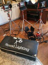 STRAND QUARTZCOLOR REDHEAD 4 LIGHT KIT w SOFT BOX SCRIMS 3 STANDS etc.