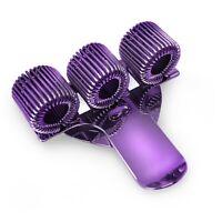 3 x Purple Treble Triple Pen Holder Pocket pen Clip - Perfect for Nurses, Doctor