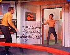 Original Autographed Photo of George Takei Star Trek Sulu Kirk William Shatner