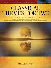 Classical Themes for Two Trombones Easy Instrumental Duets Book New 000254443
