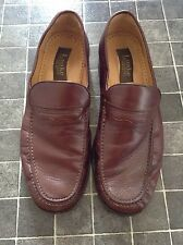Loake Shoe Makers England Loafers Brown Leather Slip On Men's Shoes Size 41 7