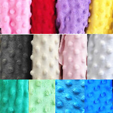 Dimple Dot Popcorn Minky DOT Cuddle Soft Plush Fleece Fabric 150cm Wide