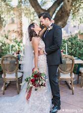 """High Quality Soft Beige Wedding Bridal Veil 2Tier Floor Chapel  Cut Edge28""""/98"""""""