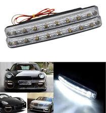Car Light 8LED DRL Fog Driving Daylight Daytime Running LED White Head Lamp Bulb