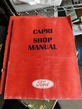 1970 1971 MERCURY CAPRI MODEL INTRO FACTORY FORD SHOP SERVICE MANUAL BOOKL