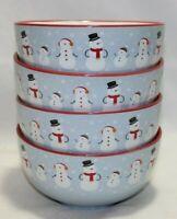Elum Home Snowman Soup Cereal Bowls Set of Four New