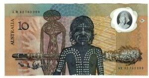 1988 Australia Bicentenary Johnston/Fraser $10 Polymer Banknote - AB42
