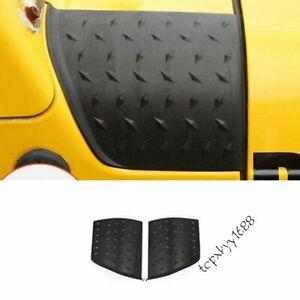 Fit Jeep Wrangler TJ 1997-2006 ABS Black Engine Hood Side Wrap Angle A Set Good