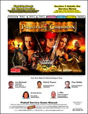 Pirates of the Caribbean Pinball FULL Service & Repair Color Manual STERN     WB
