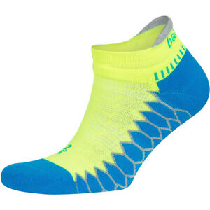 Balega Silver No Show Running Socks - Bright Turquoise/Neon Lime