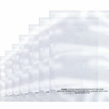 100 x Suffocation Warning Clear Reclosable Poly Bag, Meets USDA FDA Standards