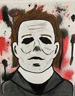 8x10 Black Light 3D Halloween Michael Myers Acrylic Art Painting