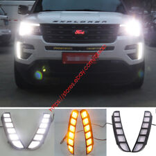 LED DRL FOR Ford Explorer 2016 2017 Daytime Running Light With Turn Siganl Lamp