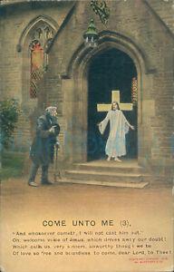 Bamforth 4518/3 1914 Postmark Come Unto Me No 3