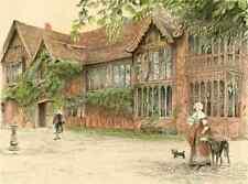 A4 Photo Aldin Cecil 1870 1935 Old Manor Houses 1920 Ockwells Manor Berks Print