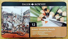 Daler Rowney12 Artists Sketching Pencils Crayons Sketching Dessin ArtistsTin