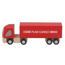 PlanToys -PT6006 -Véhicules en bois Camion semi-remorque en bois, Plan City NEUF
