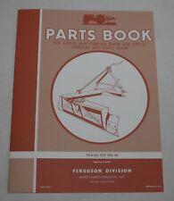 Ferguson B-FO-21 & 20 Multi-Purpose Grader Rear Blade, Terracer Parts Book/ List